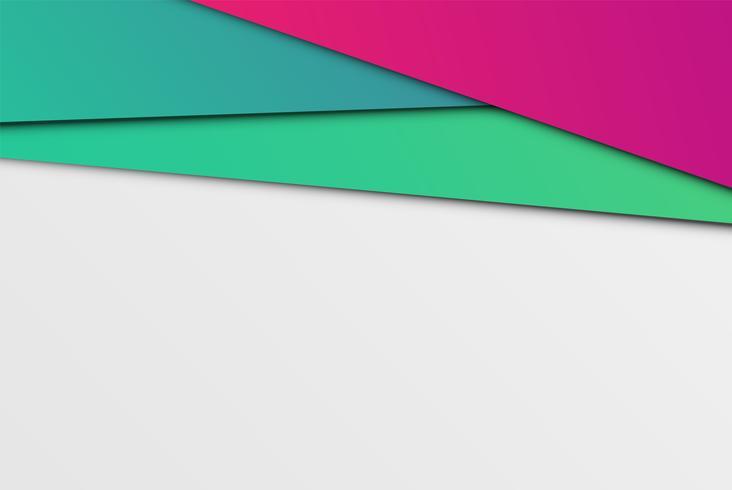 Papiers abstraits colorés, illustration vectorielle