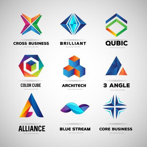 Modello di raccolta logo aziendale e della tecnologia