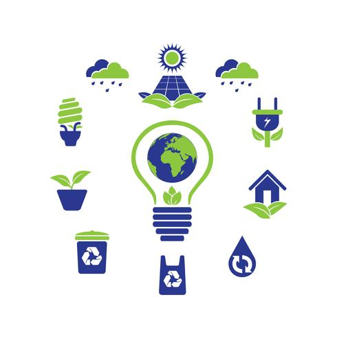 eco green logo icon designsamling