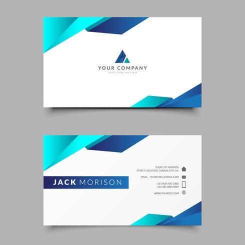 Modelo de Design de Cartão de Visita Blue Company