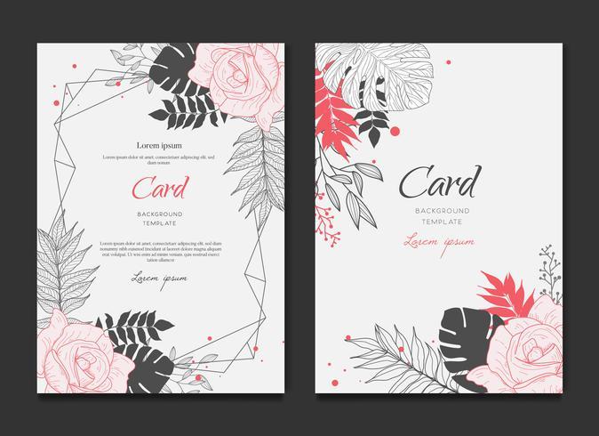 Floral Frame kaart bruiloft uitnodiging