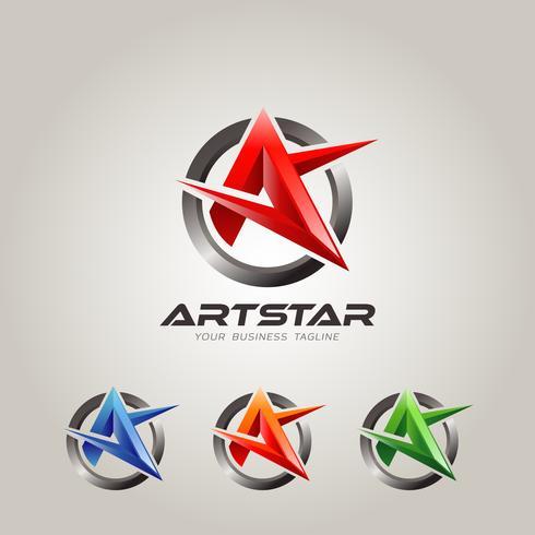 Lettera colorata A Logo Set
