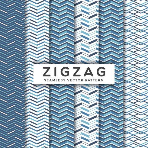 marinblå zigzag sömlösa vektormönster