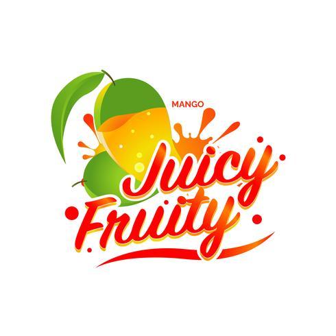 Fresh Mango Juicy Fruity Sign Symbol Logo Icon