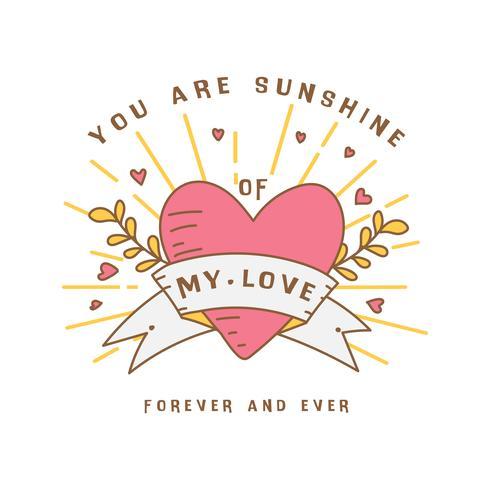 Símbolo de expressão de amor Doodle de coração