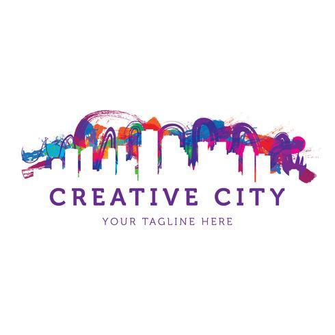 Logotipo da cidade urbana criativa