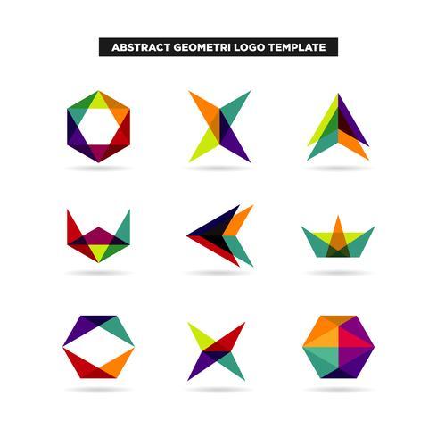 Coleção de Design de logotipo de geometria abstrata