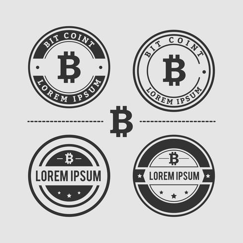 Design de logotipo de moeda de bit