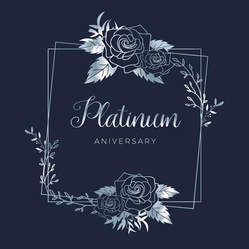 Mariage platine floral fond d'anniversaire de mariage