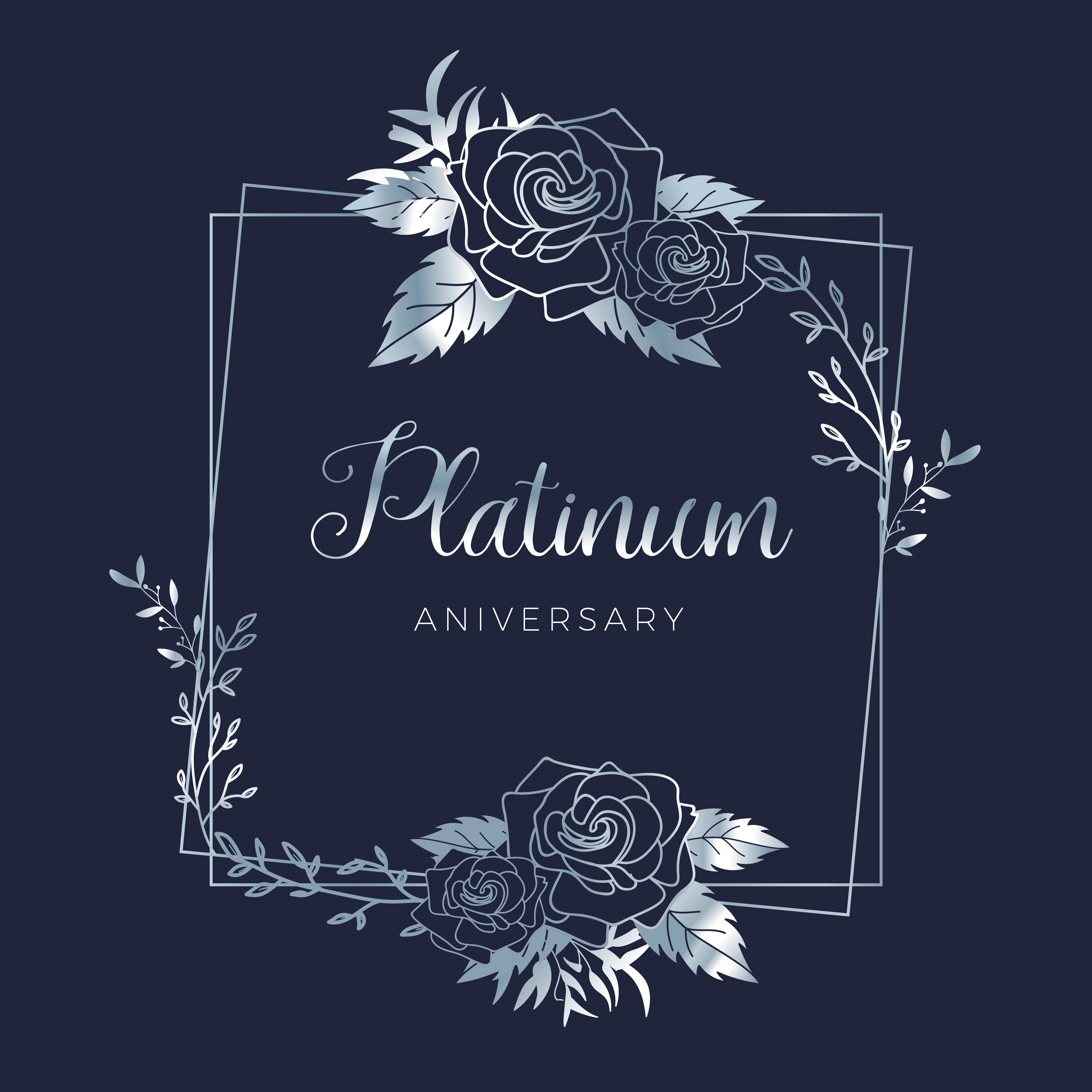 wedding platinum floral wedding anniversary background