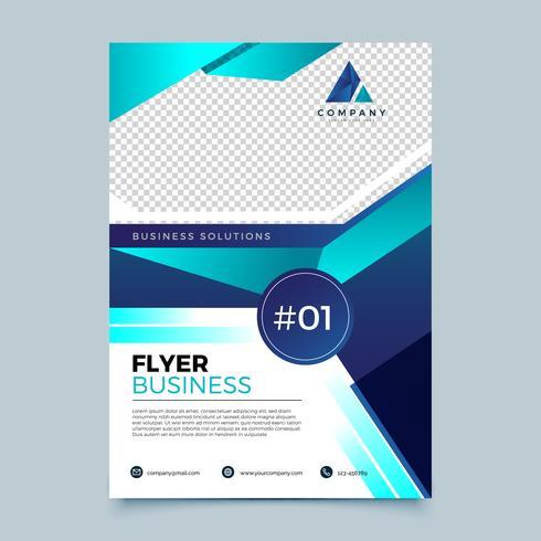 Blaue Geschäfts-Flieger-Design-Schablone vektor