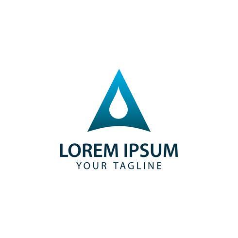 Creative Letter A Drop Logo concept design templates vector