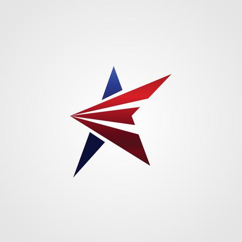 Modelo de design de conceito de logotipo estrela