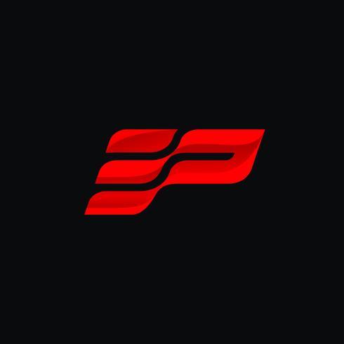 Letter E en P Logo conceptontwerpsjablonen