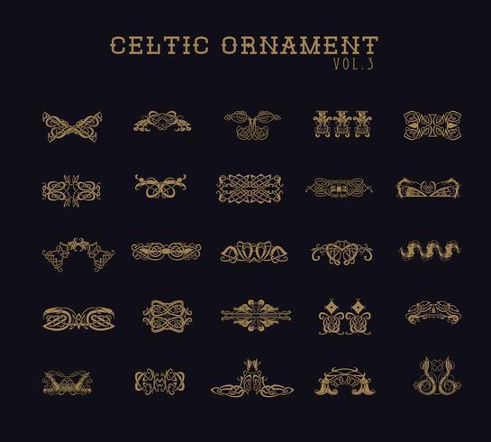 Conjunto de coleta de ornamento celta