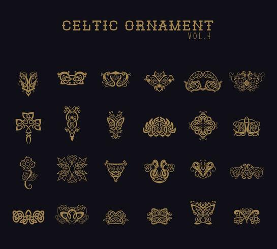 Keltischer Verzierungs-Sammlungssatz vektor