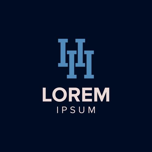 Letter H Logo conceptontwerp. blauwe kleur. vectror illustratie.