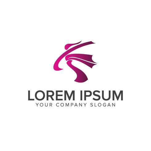 people activity Logos. sport logo design concept template