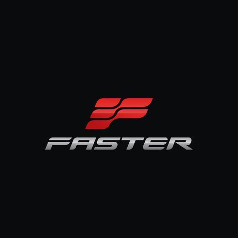 Modelos de design de conceito letra F logotipo