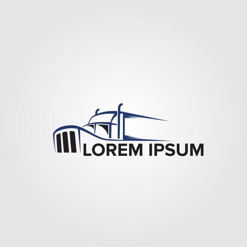 Modelli di progettazione di logo di autotrasporti creativi