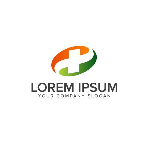 Medicinska och farmaceutiska logotypen. kors logo design koncept templ