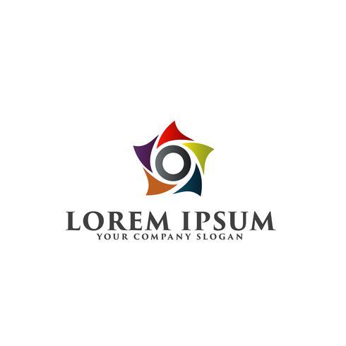 modelo de conceito de design de logotipo estrela abstrata
