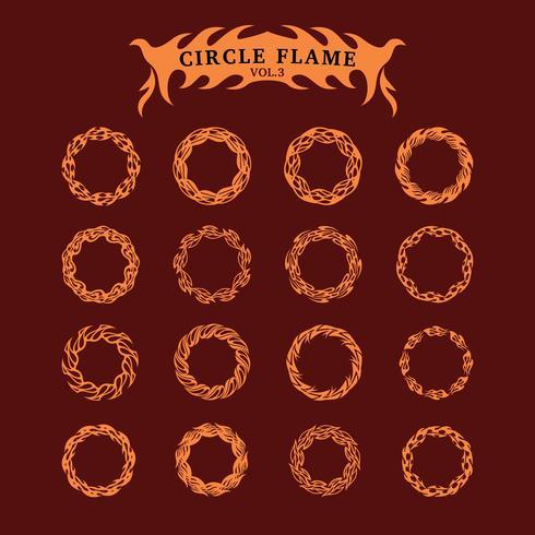 Conjunto de coleta de chama decorativa de círculo