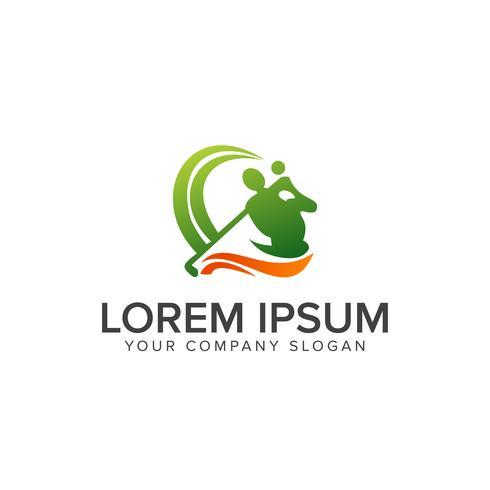 Modello di concetto di sport logo logo design