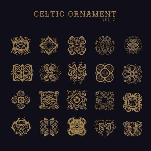 Set di ornamenti celtici