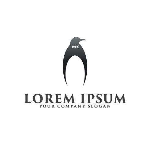 luxe Penguin logo ontwerpsjabloon concept