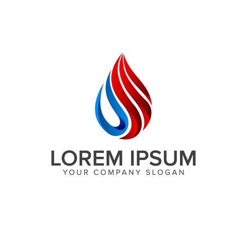 Gasöl-Logo. Tropfen natürliche Logo Konzept Entwurfsvorlage