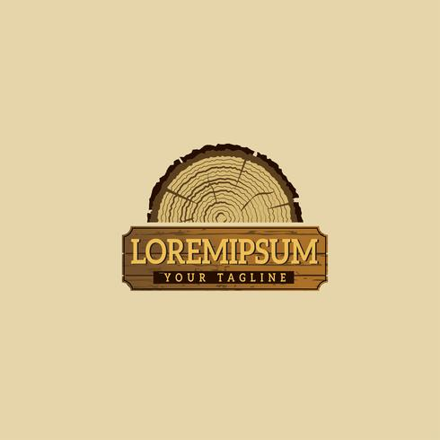 Wooding Logo-Konzept-Design-Vorlagen