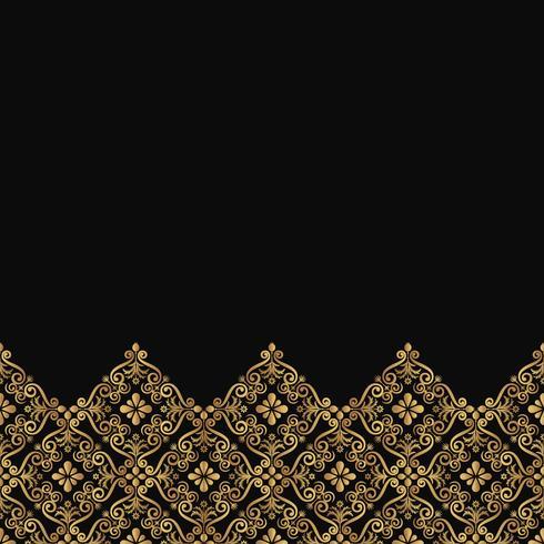 Padrão de renda ornamental de luxo