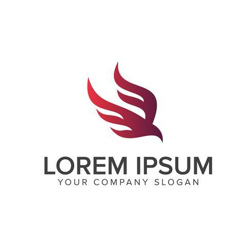 modelo de conceito de design de logotipo abstrato pássaro