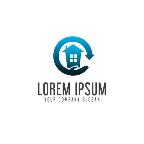 Hauspflege-Logo. Immobilien-Logo-Design-Konzept-Vorlage