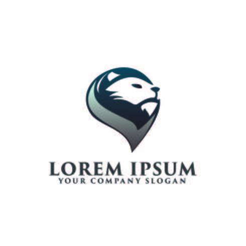 logotipo de leão de cabeça. modelo de conceito de design de logotipo de luxo vetor