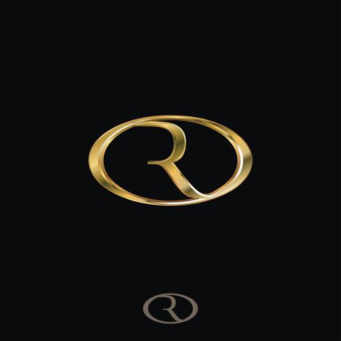 Kreativa lyxbrev R Logo koncept design mallar