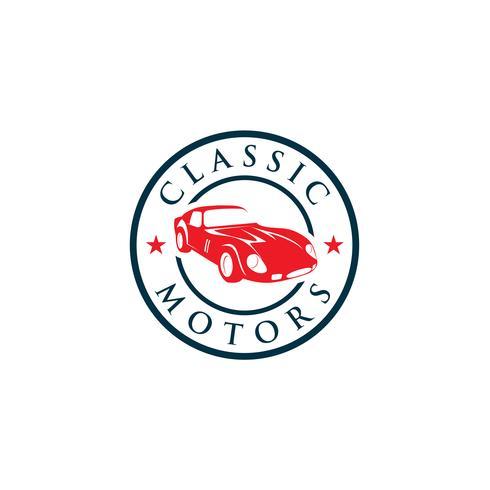 Creatieve klassieke auto's Logo conceptontwerpsjablonen
