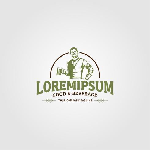 Creatieve Food and Beverage Logo conceptontwerpsjablonen