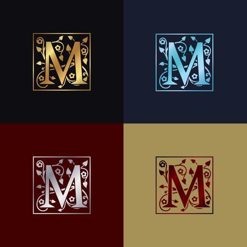 Lettre M Logo Décoratif vecteur