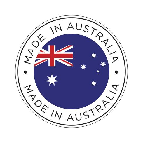 Gemaakt in Australië vlagpictogram.