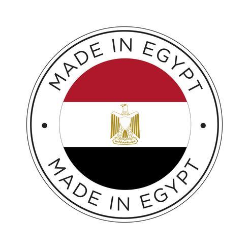 Feita no ícone de bandeira do Egito.