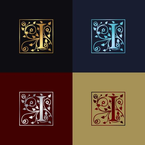 Letra I Logo Decorativo