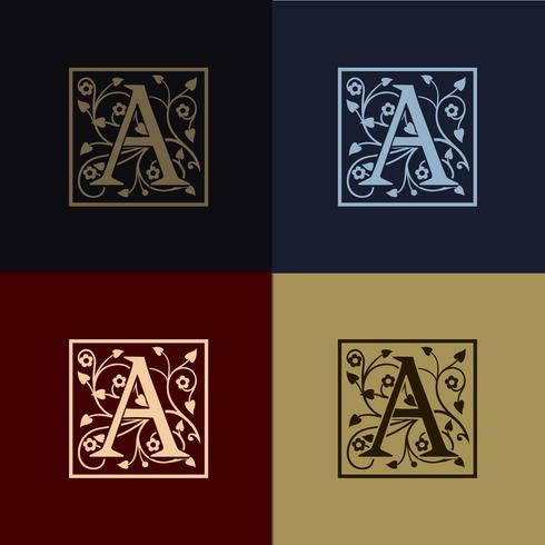 Buchstabe A Dekoration Logo vektor