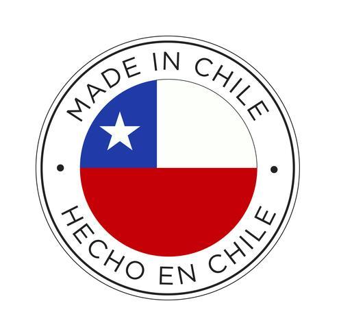 Made in Chile Kennzeichnungssymbol.