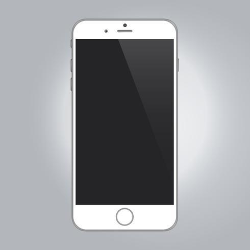 Maquette de périphérique réaliste smartphone couleur blanche