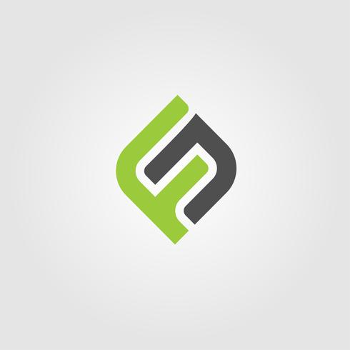 Kreative Brief FN Logo-Konzept-Design-Vorlagen