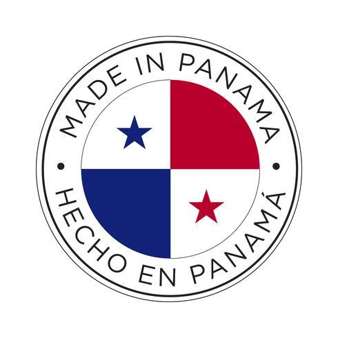 realizzato in icona bandiera panama.