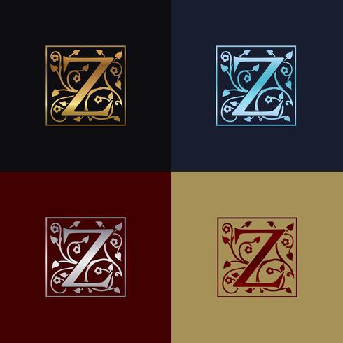 Logotipo decorativo da letra Z vetor
