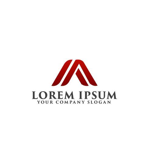 letra A, modelo de conceito de design de logotipo M
